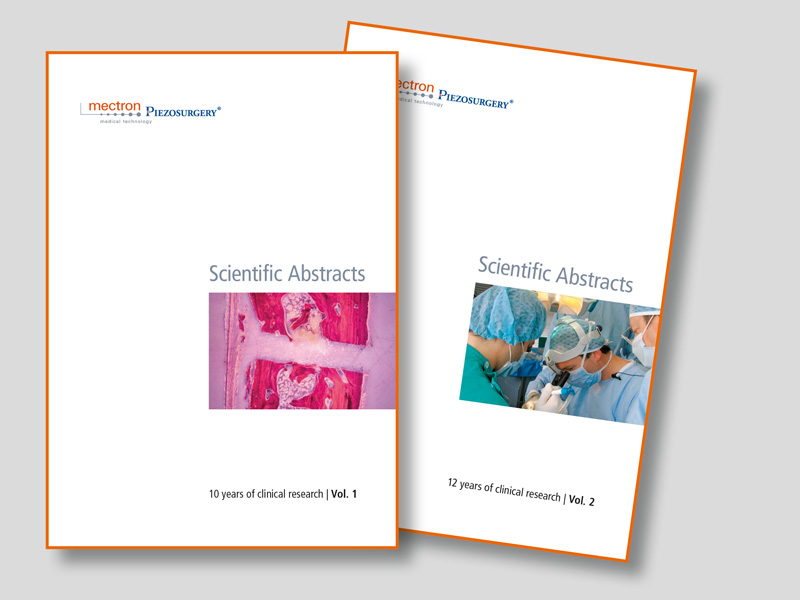 couverture de mectron PIEZOSURGERY® abstract books, édition 1 et édition 2